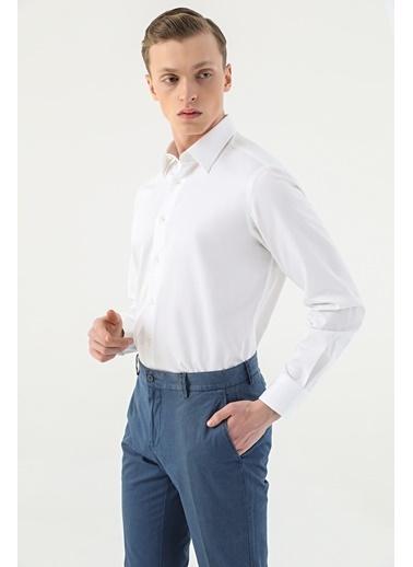 Damat Comfort Düz Gömlek Beyaz